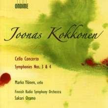 Joonas Kokkonen (1921-1996): Symphonien Nr.3 & 4, CD