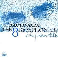 Einojuhani Rautavaara (geb. 1928): Symphonien Nr.1-8, 4 CDs