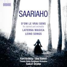 "Kaija Saariaho (geb. 1952): Klarinettenkonzert ""D'Om Le Vrai Sens"", CD"