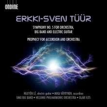 Erkki-Sven Tüür (geb. 1959): Symphonie Nr.5 für Big Band, elektrische Gitarre & Symphonieorchester, CD