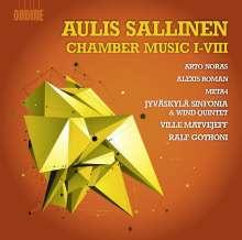 Aulis Sallinen (geb. 1935): Kammermusiken 1-8 (opp. 38, 41, 58, 79, 80a, 88, 93, 94), 2 CDs