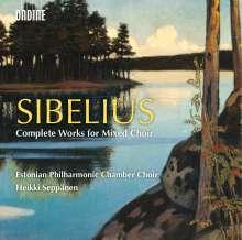Jean Sibelius (1865-1957): Sämtliche Werke für gemischten Chor, 2 CDs