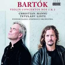 Bela Bartok (1881-1945): Violinkonzerte Nr.1 & 2, CD