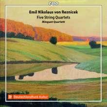 Emil Nikolaus von Reznicek (1860-1945): Streichquartette c-moll,cis-moll,d-moll,e-moll,B-Dur, 2 CDs