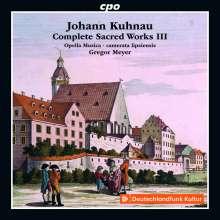Johann Kuhnau (1660-1722): Sämtliche geistliche Werke Vol.3 (Weihnachtskantaten), CD