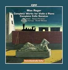 Max Reger (1873-1916): Sämtliche Werke für Violine & Klavier / Sämtliche Cellosonaten, 8 CDs