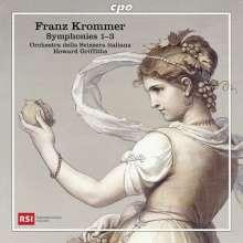 Franz Krommer (1759-1831): Symphonien Nr.1-3 (opp.12,40,62), CD