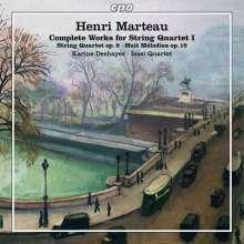 Henri Marteau (1874-1934): Sämtliche Werke für Streichquartett Vol.1, CD