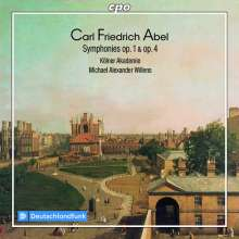 Carl Friedrich Abel (1723-1787): Symphonien op.1 Nr.1-6 & op.4 Nr.1-6, 2 CDs