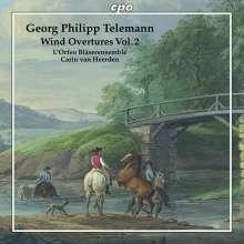 Georg Philipp Telemann (1681-1767): Ouvertüren für Bläser Vol.2, CD