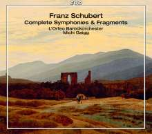 Franz Schubert (1797-1828): Sämtliche Symphonien & Fragmente, 4 CDs