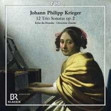 Johann Philipp Krieger (1649-1725): Triosonaten op.2 Nr.1-12 für Violine,Viola da gamba,Bc, 2 CDs