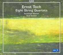 Ernst Toch (1887-1964): Streichquartette Nr.6-13, 4 CDs