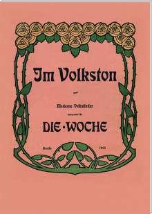 Eugen D'Albert (1864-1932): Lieder im Volkston für Gesang & Klavier (Exklusiv für jpc)
