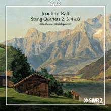 Joachim Raff (1822-1882): Streichquartette Nr. 2-4, 8, 2 CDs