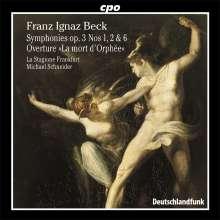 Franz Ignaz Beck (1734-1809): Symphonien op.3 Nr.1,2,6, CD