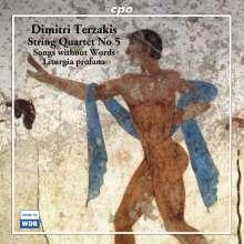 Dimitri Terzakis (geb. 1938): Streichquartett Nr.5, CD