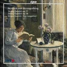 Heinrich von Herzogenberg (1843-1900): Streichquartette Vol.2, CD