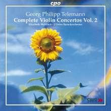 Georg Philipp Telemann (1681-1767): Sämtliche Violinkonzerte Vol.2, CD