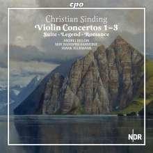 Christian Sinding (1856-1941): Violinkonzerte Nr.1-3, 2 CDs