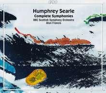 Humphrey Searle (1915-1982): Symphonien Nr.1-5, 2 CDs