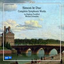 Simon Le Duc (1742-1777): Symphonien Nr.1-3, CD