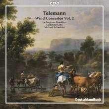 Georg Philipp Telemann (1681-1767): Bläserkonzerte Vol.2, CD
