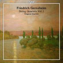 Friedrich Gernsheim (1839-1916): Streichquartette Nr.1 c-moll op.25 & Nr.3 F-Dur op.51, CD
