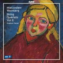Mieczyslaw Weinberg (1919-1996): Streichquartette Vol.2, CD