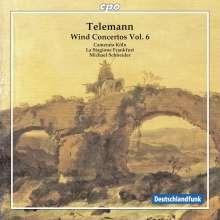 Georg Philipp Telemann (1681-1767): Bläserkonzerte Vol.6, CD