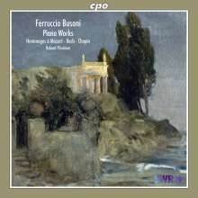"""Ferruccio Busoni (1866-1924): Klavierwerke """"Hommages a Mozart, Bach & Chopin"""", CD"""