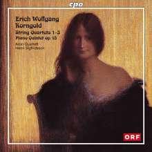 Erich Wolfgang Korngold (1897-1957): Streichquartette Nr.1-3 (op.16,26,34), 2 CDs
