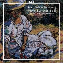 Mieczyslaw Weinberg (1919-1996): Violinsonaten Nr.4 & 5 (op.39 & 53), CD
