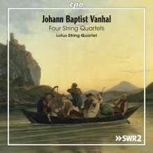 Johann Baptist (Jan Krtitel) Vanhal (1739-1813): Streichquartette c-moll (op.1 Nr.4), Es-Dur, G-Dur, A-Dur (op.33 Nr.2), CD