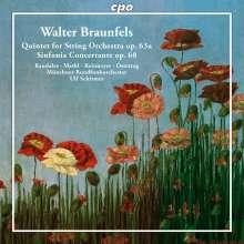 Walter Braunfels (1882-1954): Sinfonia concertante op.68 für Violine, Viola, 2 Hörner, Streichorchester, CD