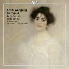 Erich Wolfgang Korngold (1897-1957): Suite op.23 für 2 Violinen, Cello, Klavier linke Hand, CD