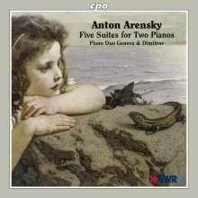 Anton Arensky (1861-1906): Suiten Nr.1-5 für 2 Klaviere, CD
