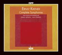 Ernst Krenek (1900-1991): Symphonien Nr.1-5, 4 CDs