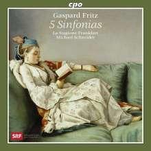 Gaspard Fritz (1716-1783): Symphonien op.1 Nr.5 & 6;op.6 Nr.3,5,6, CD