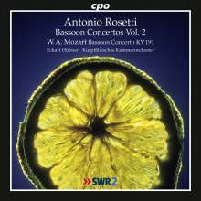 Antonio Rosetti (1750-1792): Fagottkonzerte Murray C72 & Q67, CD