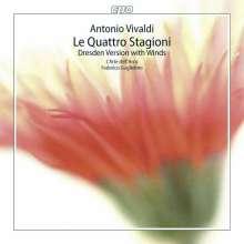 """Antonio Vivaldi (1678-1741): Concerti op.8 Nr.1-4 """"Die vier Jahreszeiten"""" (Dresdner Fassung mit Bläsern) (180g), LP"""