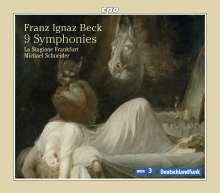 Franz Ignaz Beck (1734-1809): Symphonien op.3 Nr.1-6; op.4 Nr.1-3, 2 CDs