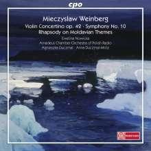 Mieczyslaw Weinberg (1919-1996): Concertino op. 42 für Violine & Streichorchester, CD