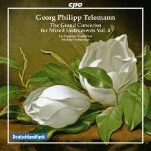 Georg Philipp Telemann (1681-1767): Konzerte für mehrere Instrumente & Orchester Vol.4, CD