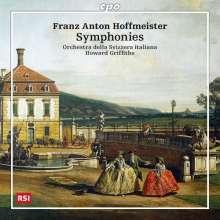 Franz Anton Hoffmeister (1754-1812): Symphonien C-Dur & D-Dur (Hickmann C8 & D8), CD