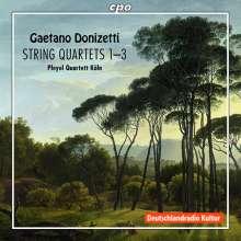 Gaetano Donizetti (1797-1848): Streichquartette Nr.1-3, CD