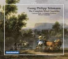 Georg Philipp Telemann (1681-1767): Sämtliche Bläserkonzerte, 8 CDs