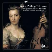 """Georg Philipp Telemann (1681-1767): 9 Triosonaten TWV 42 """"Trios pour le Dessus de Viole """", CD"""