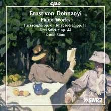 Ernst von Dohnanyi (1877-1960): Klavierwerke, CD