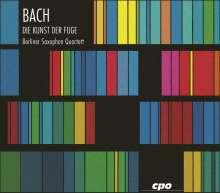 Johann Sebastian Bach (1685-1750): Die Kunst der Fuge BWV 1080 für 4 Saxophone, 2 CDs